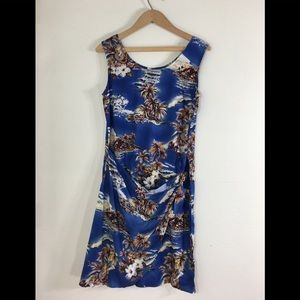 Hilo Hatties Blue Sarong Dress Sz. S